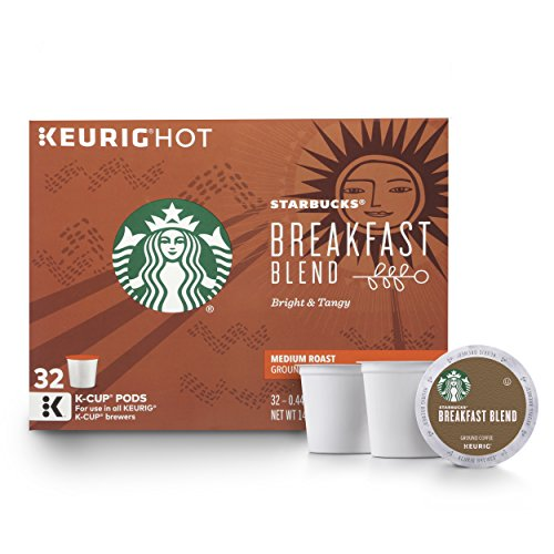 Starbucks Breakfast Blend Medium Roast Single Cup Coffee for Keurig Brewers, 32 Count -
