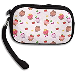 Zipper Small Wallet Sweet Strawberry Cupcakes Women's Purse Porte-monnaie Clutch Cards Holder Wallet Purse Business Card Wallet