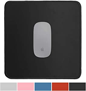 Gaming Mouse Pad Premium-Textured - Office Simple Large Mousepad for Laptop - Waterproof Computer Mouse Pads with Stitched Edge - Cute Square Desktop PC Mouse Mat - Big,Original,Solid Color (03Black)