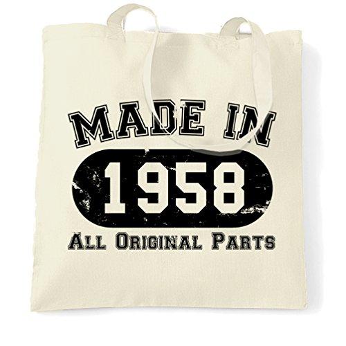 Made 1958 Birthday Parts Natural Shopping 60th in Bag Original All 4UwqxxStP
