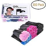 Ohuhu 300 Pcs Mascara Brushes Disposable Eye Lash Eyebrow Eyelash Brushes Mascara Wands