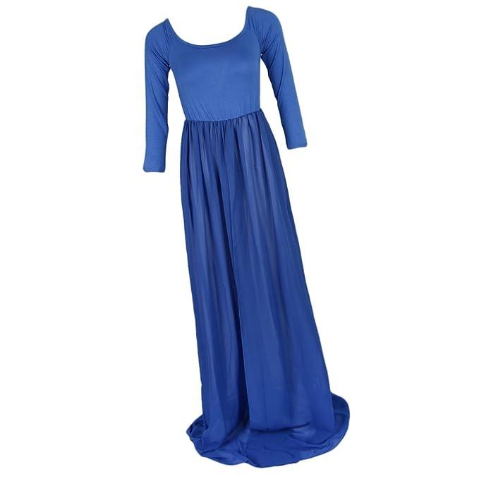 Baoblaze Vestido de Maternidad Apariencia Atractiva Suave Cómoda ELegante Sensación Opción para Mujer Embarazada - Azul