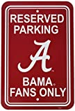 NCAA Alabama Crimson Tide 12-by-18 inch Plastic Parking Sign