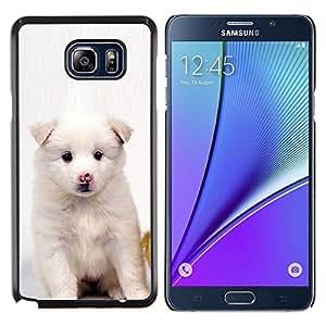 """Be-Star Único Patrón Plástico Duro Fundas Cover Cubre Hard Case Cover Para Samsung Galaxy Note5 / N920 ( Perrito blanco del rosa de la nariz de perro Negro Ojos"""" )"""