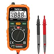 Tacklife DM04 Classic Pocket Digital Multimeter Auto Ranging Multi Tester with Non Contact Voltage Detection DC/ AC Voltage & Current, Resistance,Connectivity Test