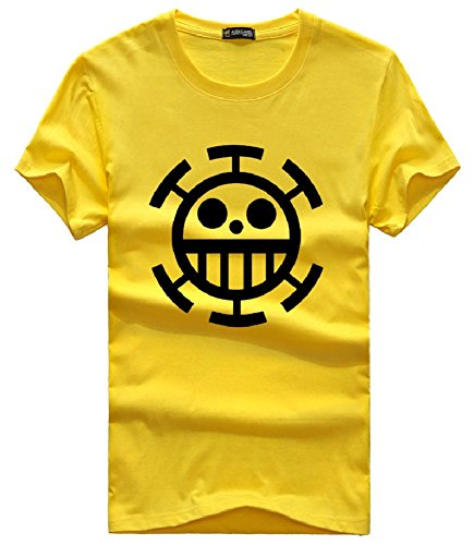 SPJ: One Piece Trafalgar Law Style Short Sleeve T-Shirt Cosplay Costume (XL)