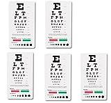 Prestige Medical 3909 Snellen Pocket Eye Chart MnZNXz, 5 Pack