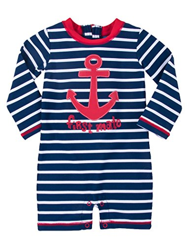 Hatley Baby Boys' Swim Shirt, Vintage Nautical, - 400 Spf