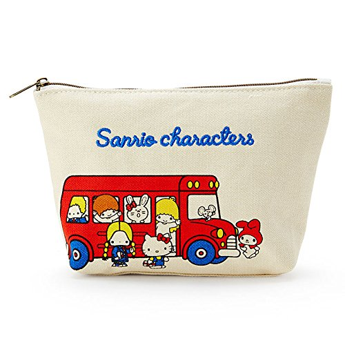 Sanrio Sanrio Characters canvas pouch '70s bus From Japan New (70s Tv Characters)