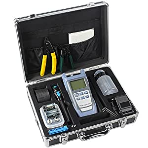 Zinnor 18 in 1 Optic Fiber FTTH Tool Kit Fiber Cleaver Optical Power Meter W/Box