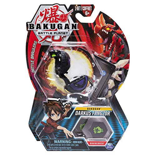 Bakugan, Darkus Fangzor, 2-inch Tall Collectible Transforming Creature, for Ages 6 and Up (Darkus Bakugan)