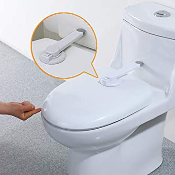 Miraculous Baby Safety Toilet Locks Professional Baby Proof Toilet Lid Lock With Arm 3M Adhesive Mount Top Safety Toilet Seat Locks No Tools Needed Easy Alphanode Cool Chair Designs And Ideas Alphanodeonline