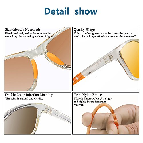 JOJEN Polarized Sports Sunglasses for men women Baseball Running Cycling Fishing Golf Tr90