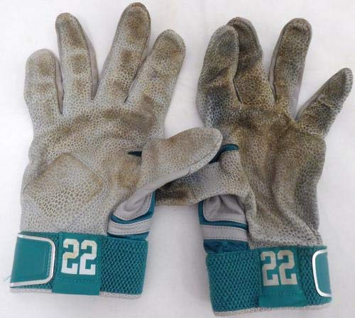 Robinson Cano Autographed Game Used Nike Batting Gloves Signed Cert 138702 MLB Game Used Gloves