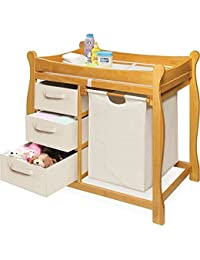 Badger Basket Changing Table with Hamper and Baskets - Honey BOBEBE Online Baby Store From New York to Miami and Los Angeles