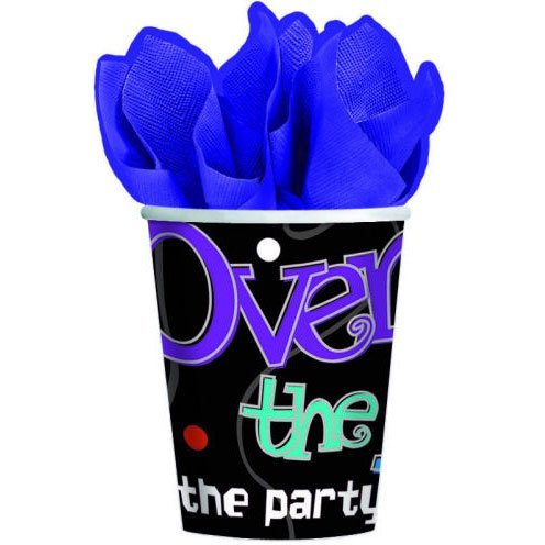 4 Each: The Party Continues Over the Hill 9 Oz Hot / Cold Cups (8 Ct)