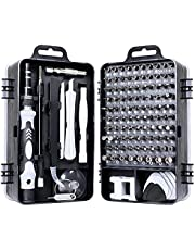115 in 1 Screwdriver Set, Magnetic DIY Precision Tool kit for Glasses PC Laptop Mobile Cell Phone Digital Watch