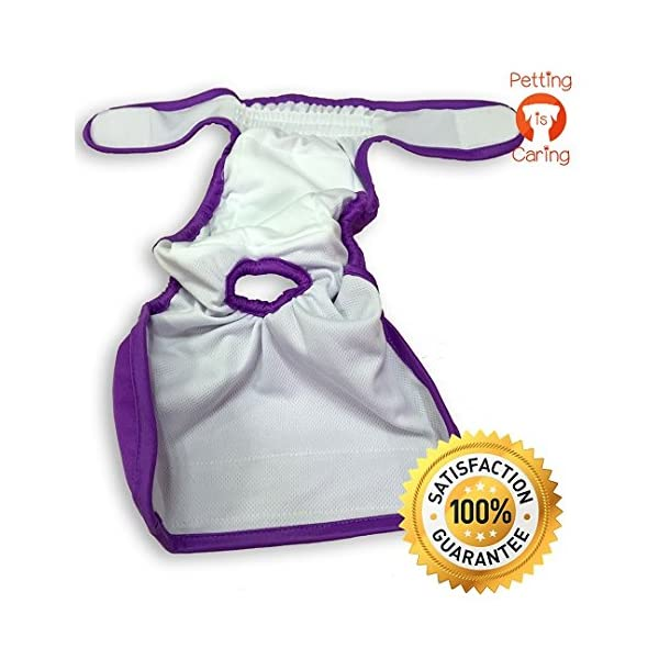 Dog Washable Diapers & Reusable by PETTING IS CARING – Female Dog Diapers Materials Durable Machine Washable Simple… Click on image for further info. 5