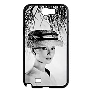 I-Cu-Le Diy Phone Case Audrey Hepburn Pattern Hard Case For Samsung Galaxy Note 2 N7100
