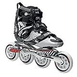 Roces 400721 Men's Model Lab Fitness Inline Skate, US 12, Black/Silver