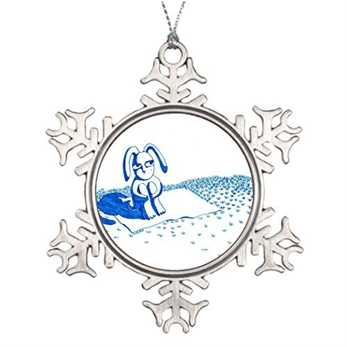 EvelynDavid Tree Branch Decoration Starring at The Moon Wedding Christmas Snowflake Ornaments Tree Decor