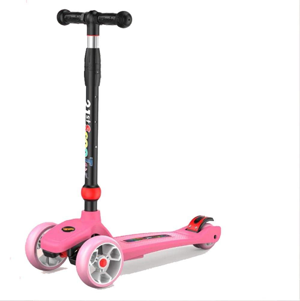 Dyx Scooter Tres Ruedas, Pedal de Scooter Infantil con luz Deslizante Ajustable Deslizador 2 a 13 años de Edad Bicicleta