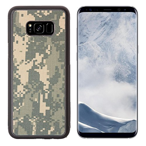 g Galaxy S8 Plus Aluminum Backplate Bumper Snap Case IMAGE ID: 20126822 US army acu digital camouflage fabric texture background ()