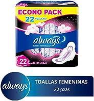 Always Toallas Higiénicas con Protección Suave, Paquete de 22 Piezas