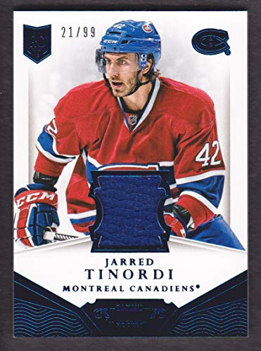 2013-14 Dominion Jersey #D-DI Jarred Tinordi 21/99 Montreal Canadiens