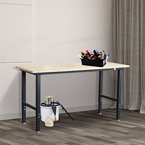 Steel Boa (Generic45588 Tool Storage nch Too Workshop DIY hop DI Garage MDF Top Steel e Boa 5.4' Work Bench Frame rage M Table Board NV_1008004558-DF-US53)
