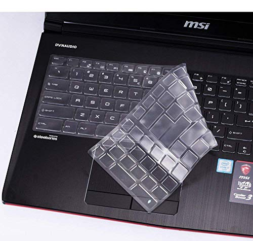 iFyx Keyboard Skin Protector for MSI GL63 GL65 15.6″ Gaming Series Laptop Cover (Transparent)
