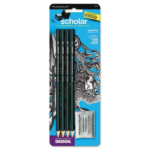 rawing Pencil Set, 4 Pencils, 1 Eraser (2502) (Design Ebony Pencil)