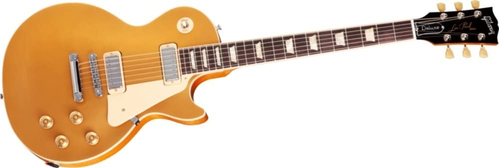 Gibson Limited Run Les Paul Deluxe Electric Guitar Gold Top