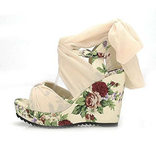 Print 1TO9 M 5 Frosted Engagement Beige 5 Sandals Girls B US Animal qwECZxTw
