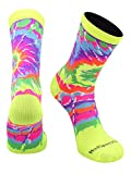 MadSportsStuff Crazy Tie Dye Socks Crew