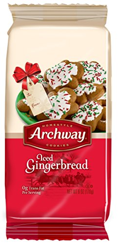 Iced Gingerbread (Archway Iced Gingerbreadmen Cookies, 6 Ounce)