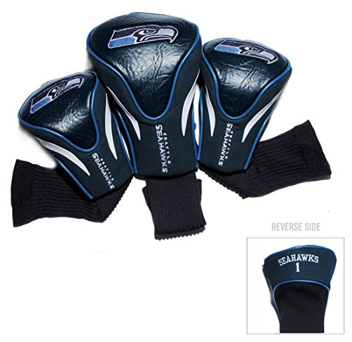 Seattle Seahawks Golf Club Headcover Set 3 Piece Contour Style (Headcover Set Pack 3)