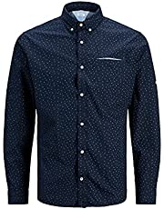Jack & Jones Men's JJETHOMAS DETAIL SHIRT L/S NOOS Shirt