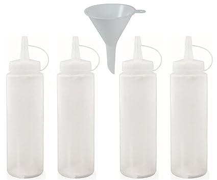 mikken 4 x Squeeze Botella de 0,23 L sin BPA, Botella de plástico