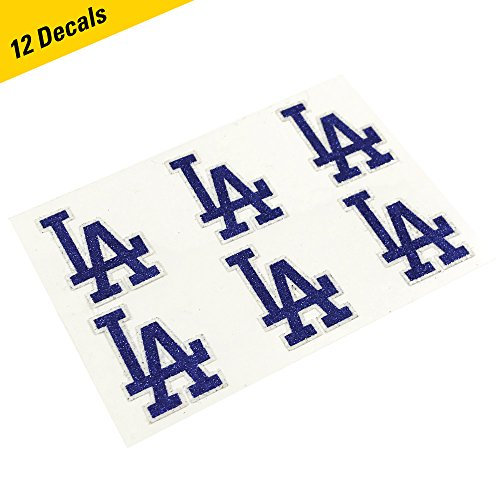 (Los Angeles Dodgers MLB Glitter Cheek Decals, Perfect for Game Day and Tailgate (12 Decals))