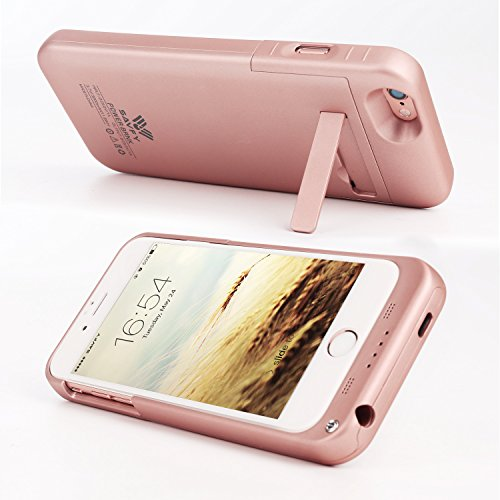 SAVFY iPhone 7 Battery condition iPhone 6 6s Charger condition 3200mAh iPhone mobile or portable Charger slim Rechargeable Extended Battery Charging Pack electric power Bank condition with Kickstand for iPhone 7 6S 47 inch elevated Gold Batteries