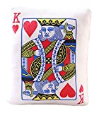 Auspicious beginning Simulated Poker Playing Card Cushion Durable Sofa Throw Pillow Home Decoration, HeartsK