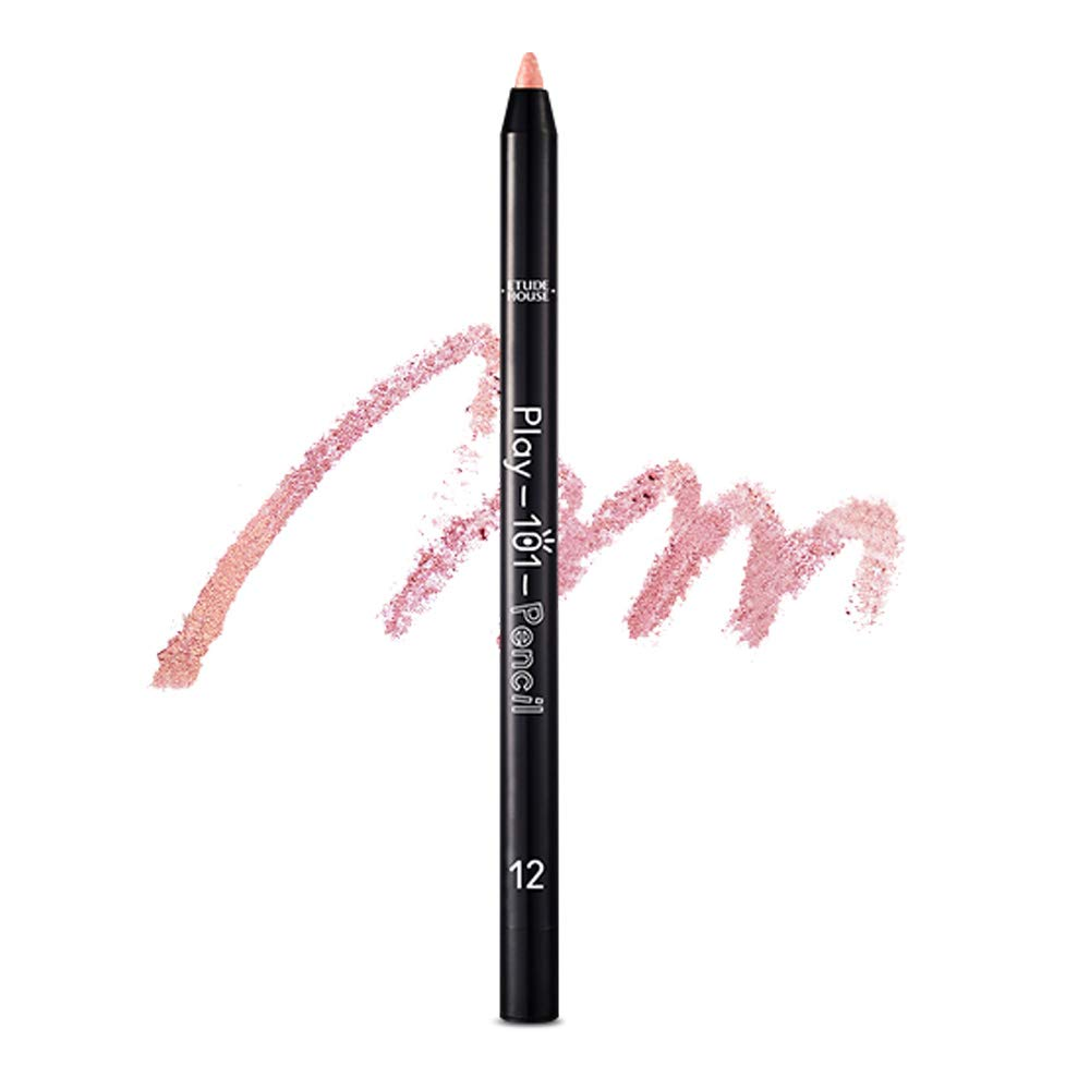 ETUDE HOUSE Play 101 Pencil AD (#12 SHIMMER) | Soft Gel Texture and Super Blendable Colorful Multi-Pencil for a Flawless and Long-Lasting Makeup | Smudge-Proof Kbeauty Liner