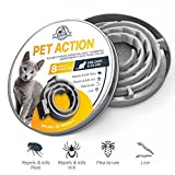 [NEW 2018 EFFECTIVE] Flea and Tick Collar for Cats – 8 MONTHS Full Protection – Best Prevention | Natural Flea Repellent Collar for Larvae, Bites, Itches, Leashes, Ticks Protection