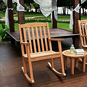 51k6%2BhFP1oL._SS300_ Teak Rocking Chairs For Sale