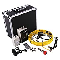 Vanxse Sewer Pipe Inspection Camera Waterproof IP68 Drain Industrial Endoscope Video Inspection System 7 Inch LCD Monitor 1000TVL Sony CCD DVR Recorder Video Snake Camera 8GB D70230