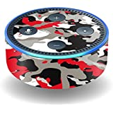 MightySkins Skin For Amazon Echo Dot (2nd Gen) - Red Camo   Protective, Durable, and Unique Vinyl Decal wrap cover   Easy To Apply, Remove, and Change Styles   Made in the USA