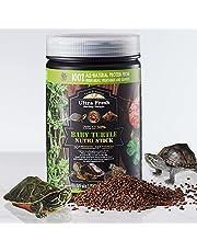 [Picky Juvenile Aquatic Turtle Food] Ultra Fresh - Baby Turtle Nutri Stick, Wild Sword Prawn, Sweet Potato Leaves, Calcium & Vitamin D-Enriched Aquatic Turtle Food with Probiotics for Picky Baby Turtles