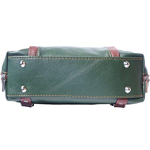 Hobo Becerro marron Mochila Market B017 De Bolso Suave Berri Oscuro Convertible Una Piel Hombro Verde En Leather Florence wHq7xFTyt7