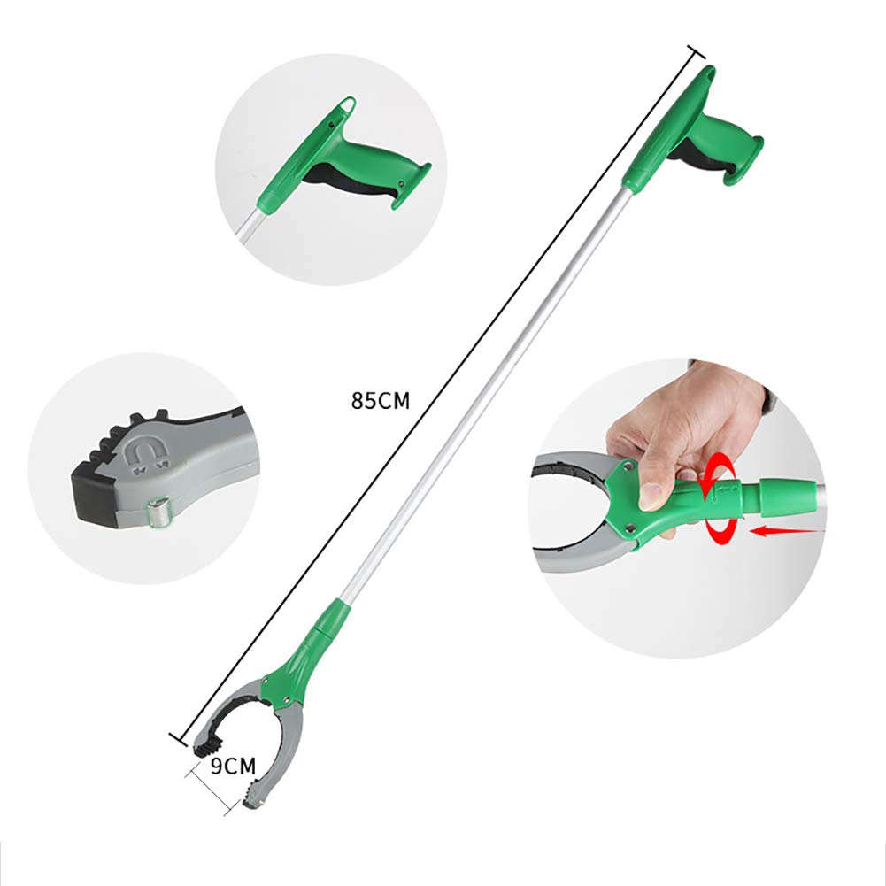ZDYLM-Y Long Grabber Reacher with Magnet Long Handle Aluminum Alloy Rotatable Environmentally Friendly Picker, Suitable for Garden, Household Picking by ZDYLM-Y (Image #4)